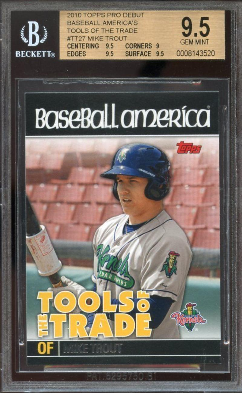 2010 topps pro debut baseball americas tools of trade #tt27 MIKE TROUT BGS 9.5