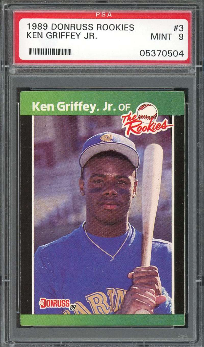 1989 donruss rookie #3 KEN GRIFFEY JR seattle mariners rookie card PSA 9