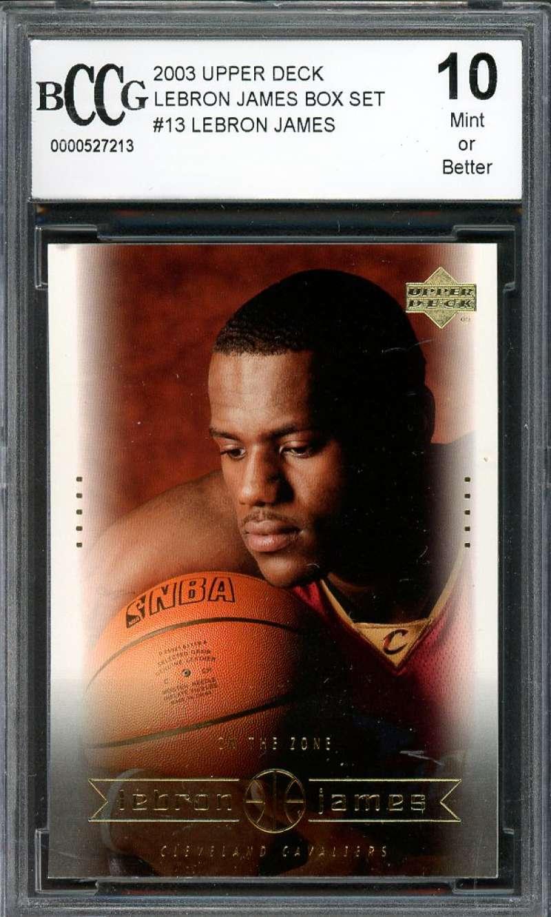 2003 upper deck lebron james box set #13 LEBRON JAMES rookie card BGS BCCG 10