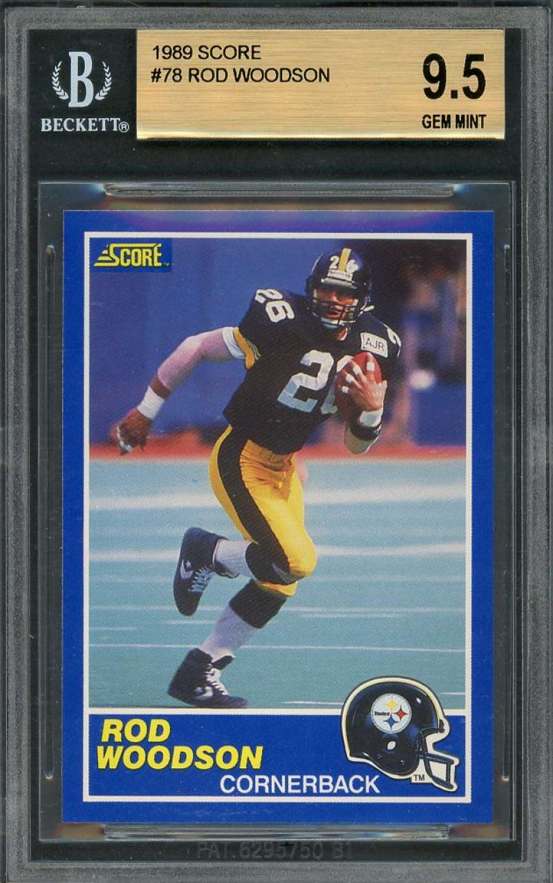 1989 score #78 ROD WOODSON pittsburgh steelers rookie BGS 9.5 (9.5 9.5 9.5 9)