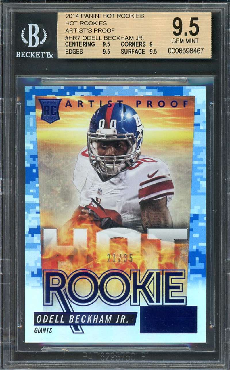 2014 panini hot rcs hr artist's proof #hr7 ODELL BECKHAM BGS 9.5 (9.5 9 9.5 9.5)