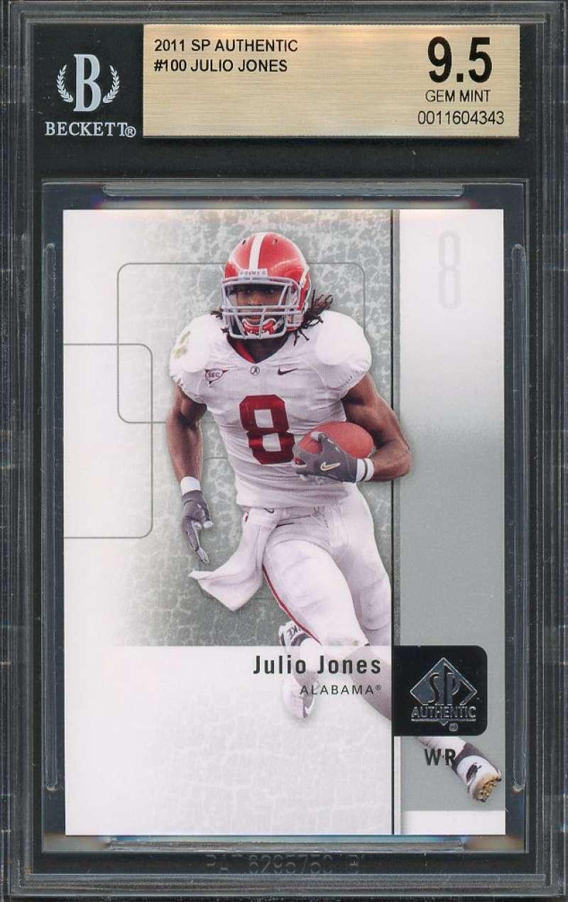 2011 sp authentic #100 JULIO JONES atlanta falcons rookie card BGS 9.5