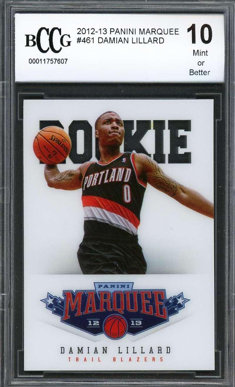 Damian Lillard Rookie Card 2012-13 Panini Marquee #461 Blazers BGS BCCG 10