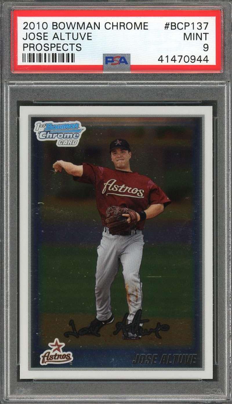 Jose Altuve Rookie Card 2010 Bowman Chrome Prospects #Bcp137 Astros PSA 9