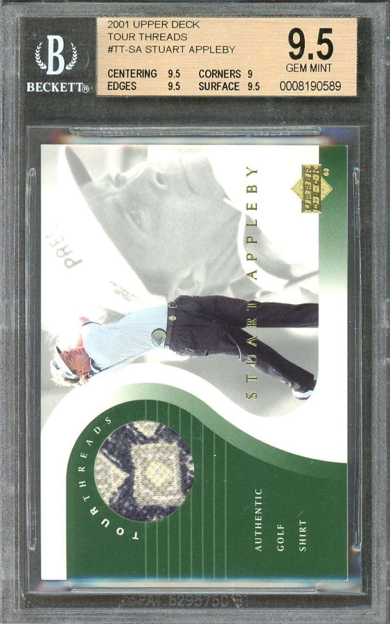 Stuart Appleby Card 2001 Upper Deck Tour Threads #Tt-Sa BGS 9.5 (10 9 9.5 9.5)
