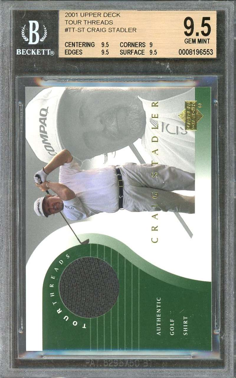 Craig Stadler Card 2001 Upper Deck Tour Threads #Tt-St BGS 9.5 (9.5 9 9.5 9.5)