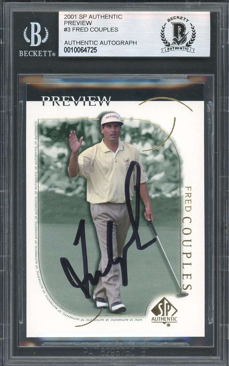 Fred Couples Autograph Golf Card 2001 Sp Authentic Preview #3 BGS BAS AUTHENTIC