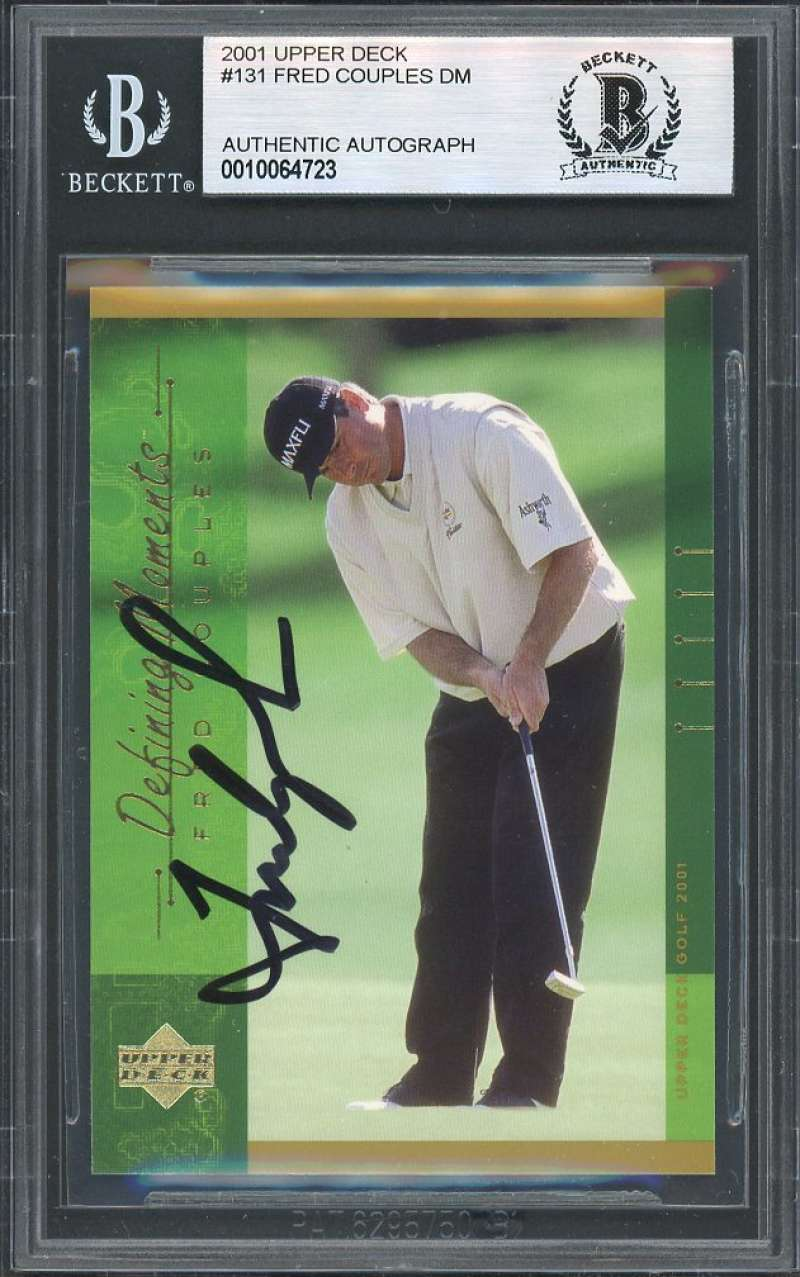 Fred Couples Dm Autograph Golf Card 2001 Upper Deck #131 BGS BAS AUTHENTIC