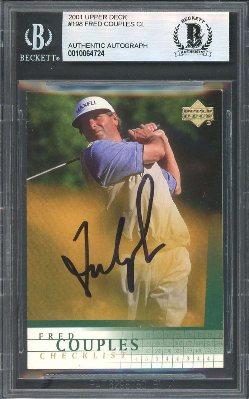 Fred Couples Cl Autograph Golf Card 2001 Upper Deck #198 BGS BAS AUTHENTIC