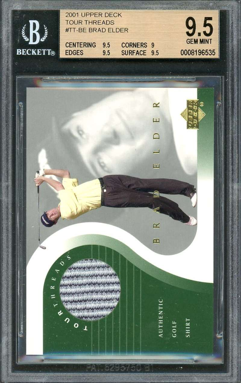 Brad Elder Card 2001 Upper Deck Tour Threads #Tt-Be BGS 9.5 (9.5 9 9.5 9.5)