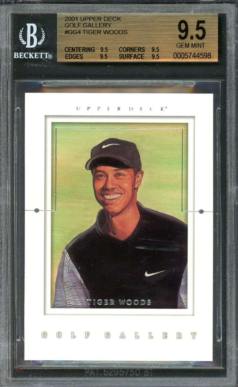 Tiger Woods Rookie 2001 Upper Deck Golf Gallery #Gg4 BGS 9.5 (9.5 9.5 9.5 9.5)