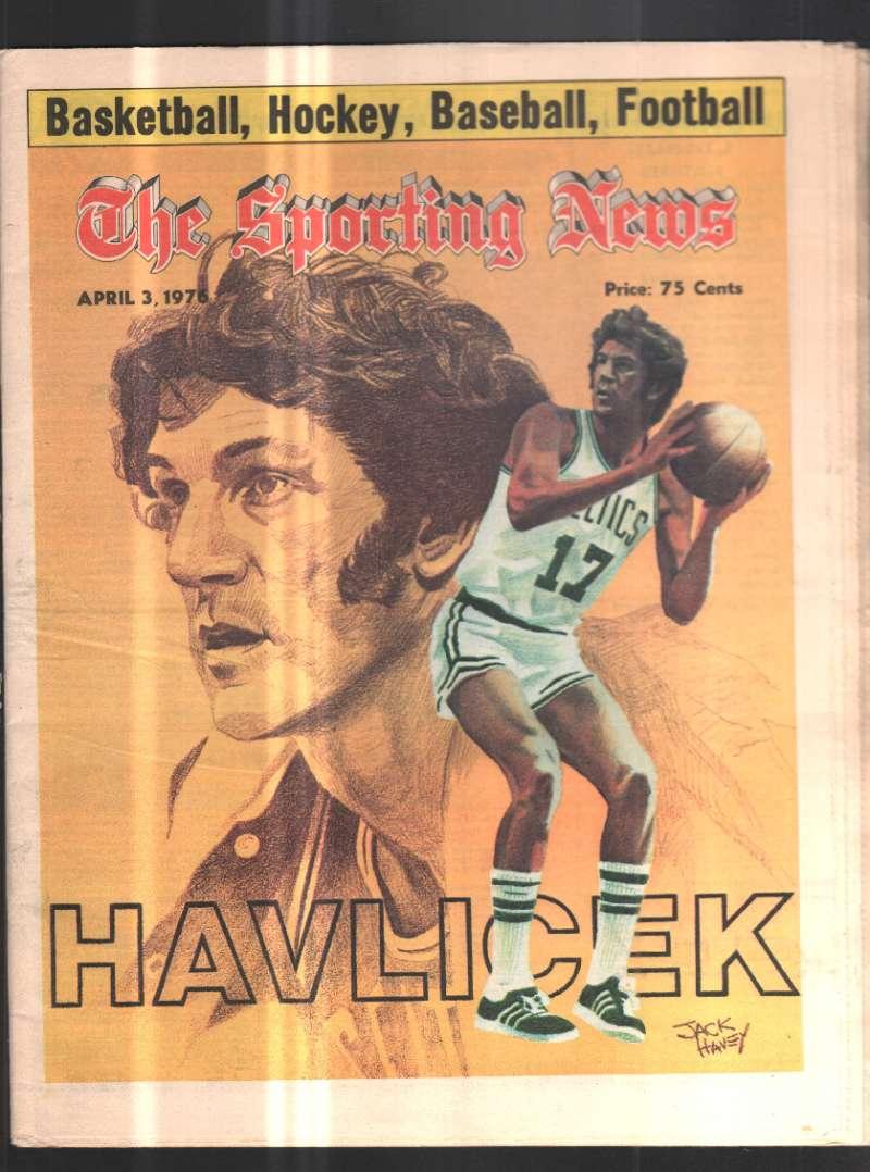 The Sporting News Newspaper April 3, 1976 Havlicek
