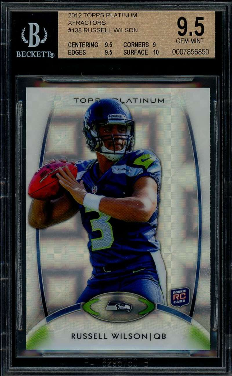 Russell Wilson Rookie 2012 Topps Platinum Xfractors #138 BGS 9.5 (9.5 9 9.5 10)