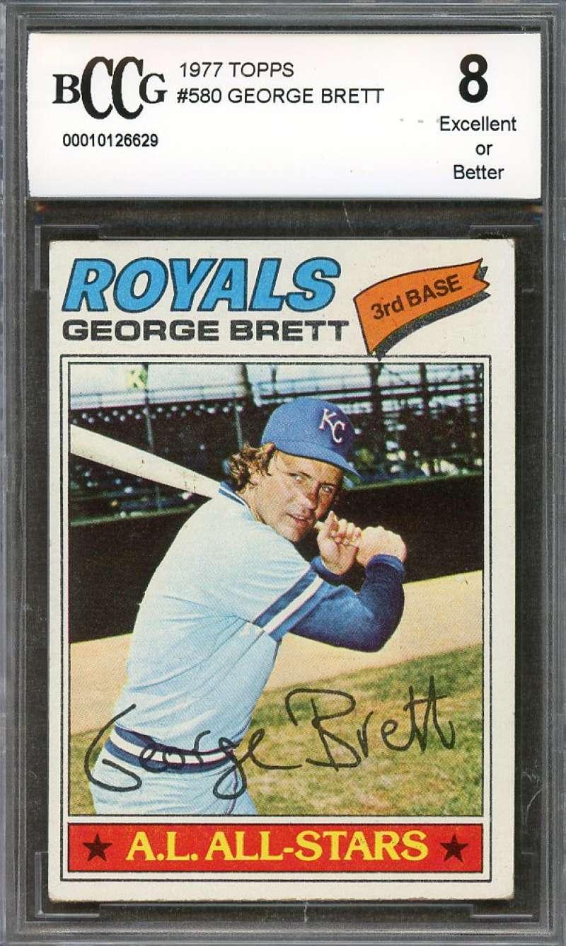 #LK.1280 GEORGE BRETT 1977 Memorial Penny Insert Trade Card RARE