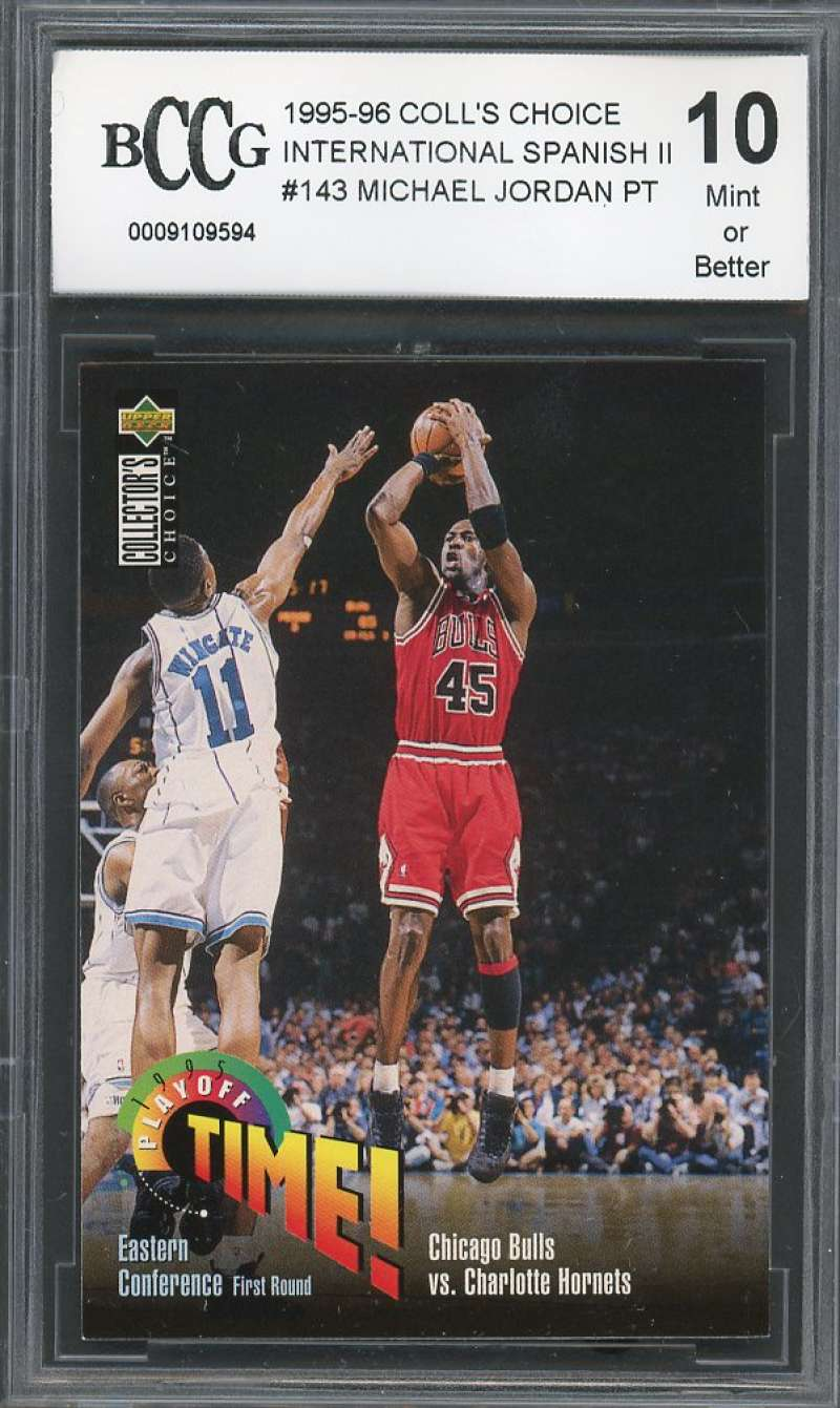 Michael Jordan 1995-96 Coll's Choice International Spanish Ii #143 BGS BCCG 10