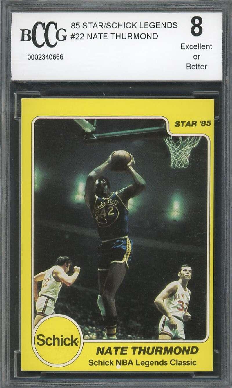Nate Thurmond Card 1985 Star/Shick Legends #22 Golden State Warriors BGS BCCG 8