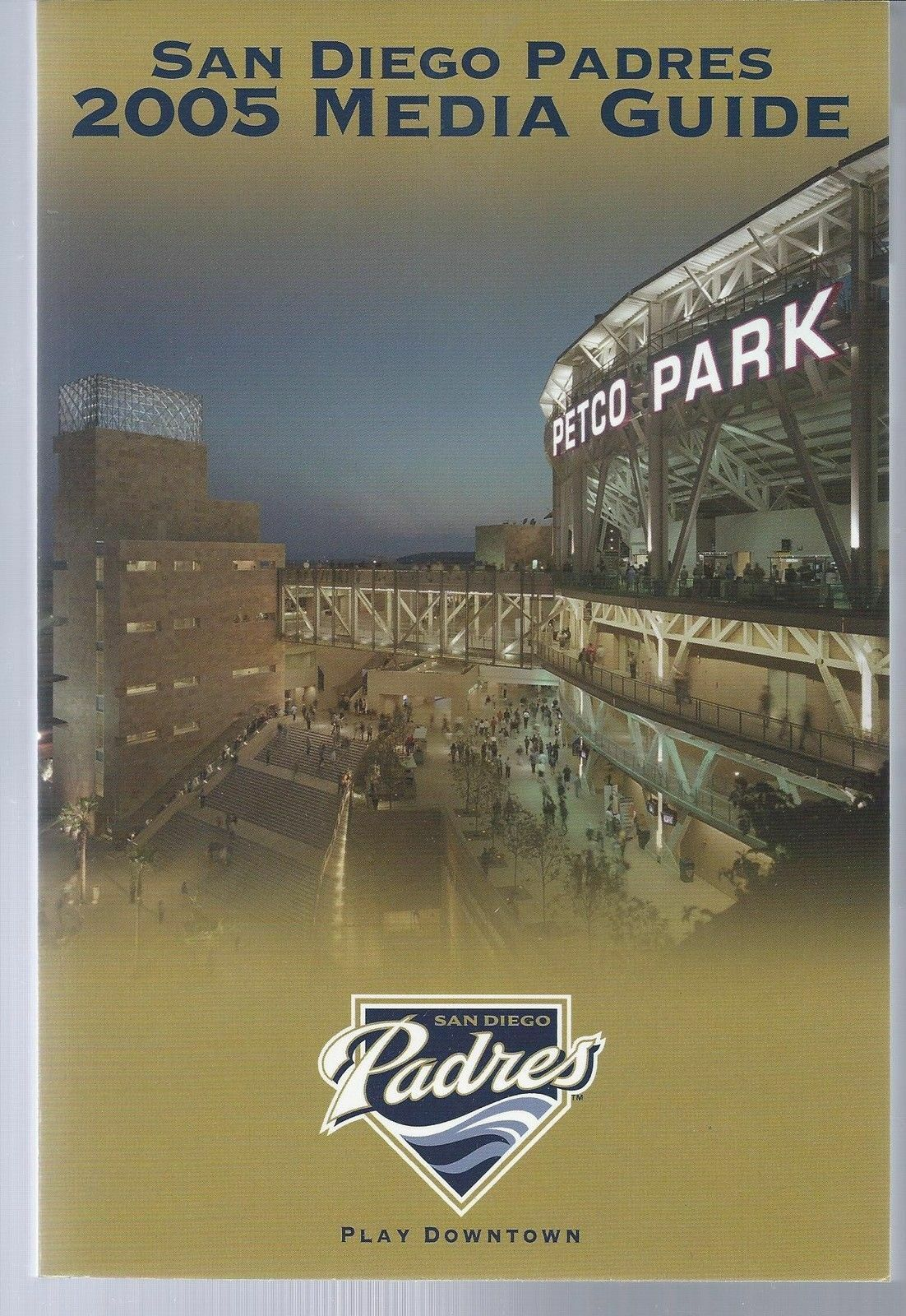 2005 San Diego Padres Baseball MLB Media Guide - Annual Player Information