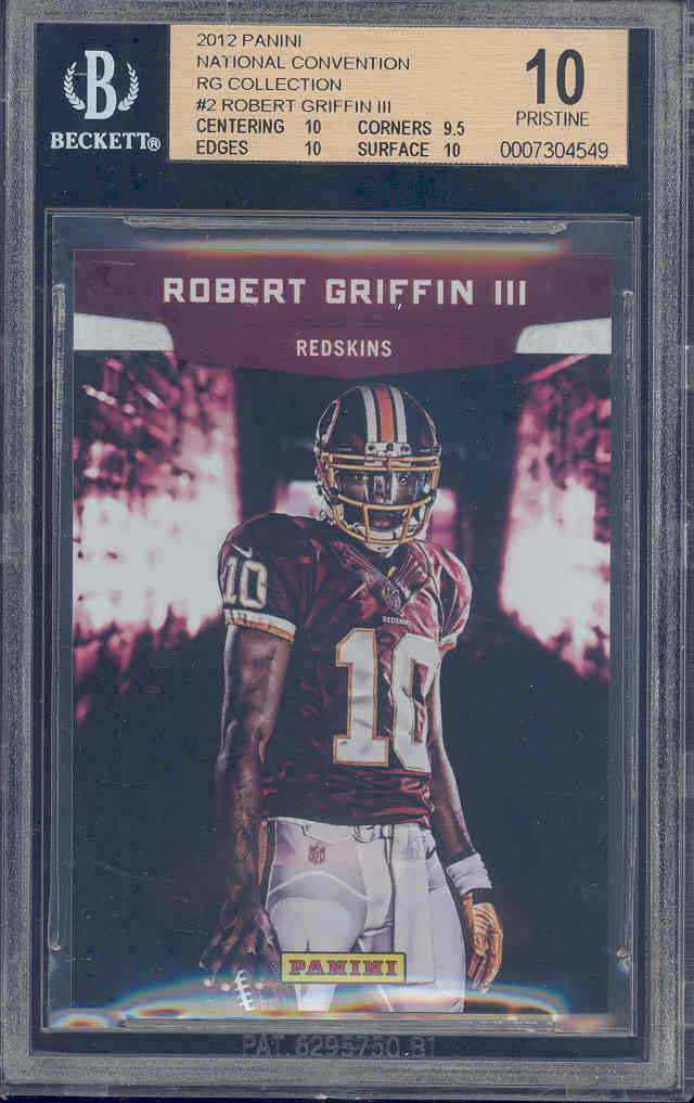 2012 panini national convention #2 ROBERT GRIFFIN rookie BGS 10 pristine