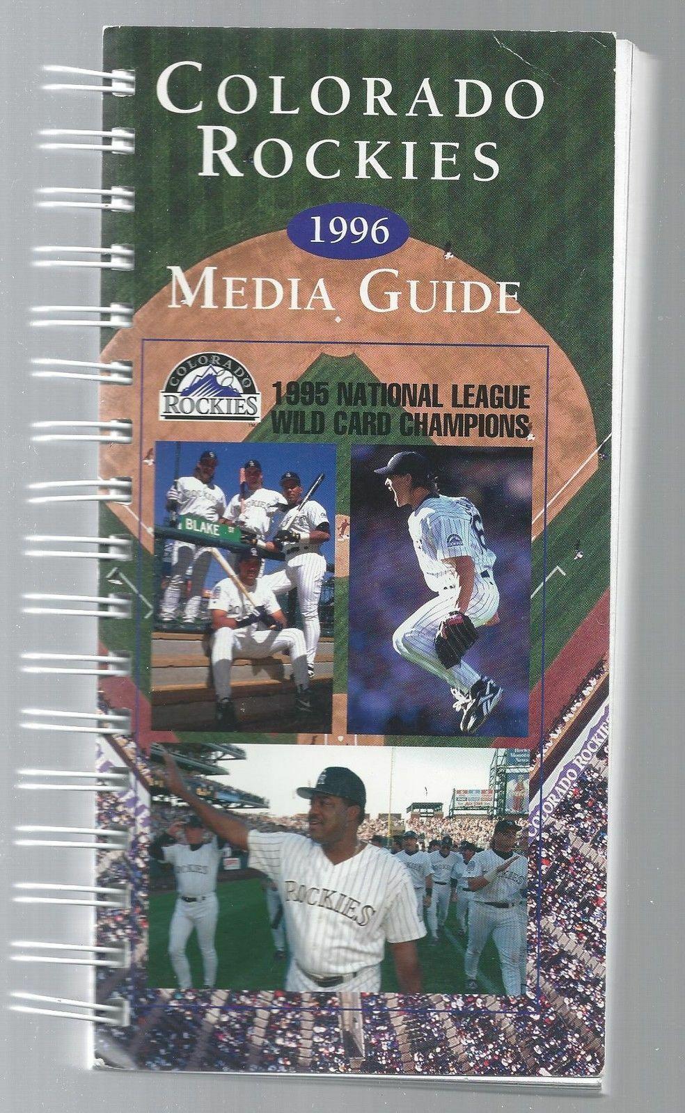 1996 Colorado Rockies Baseball MLB Media Guide - Annual Player Info spiral