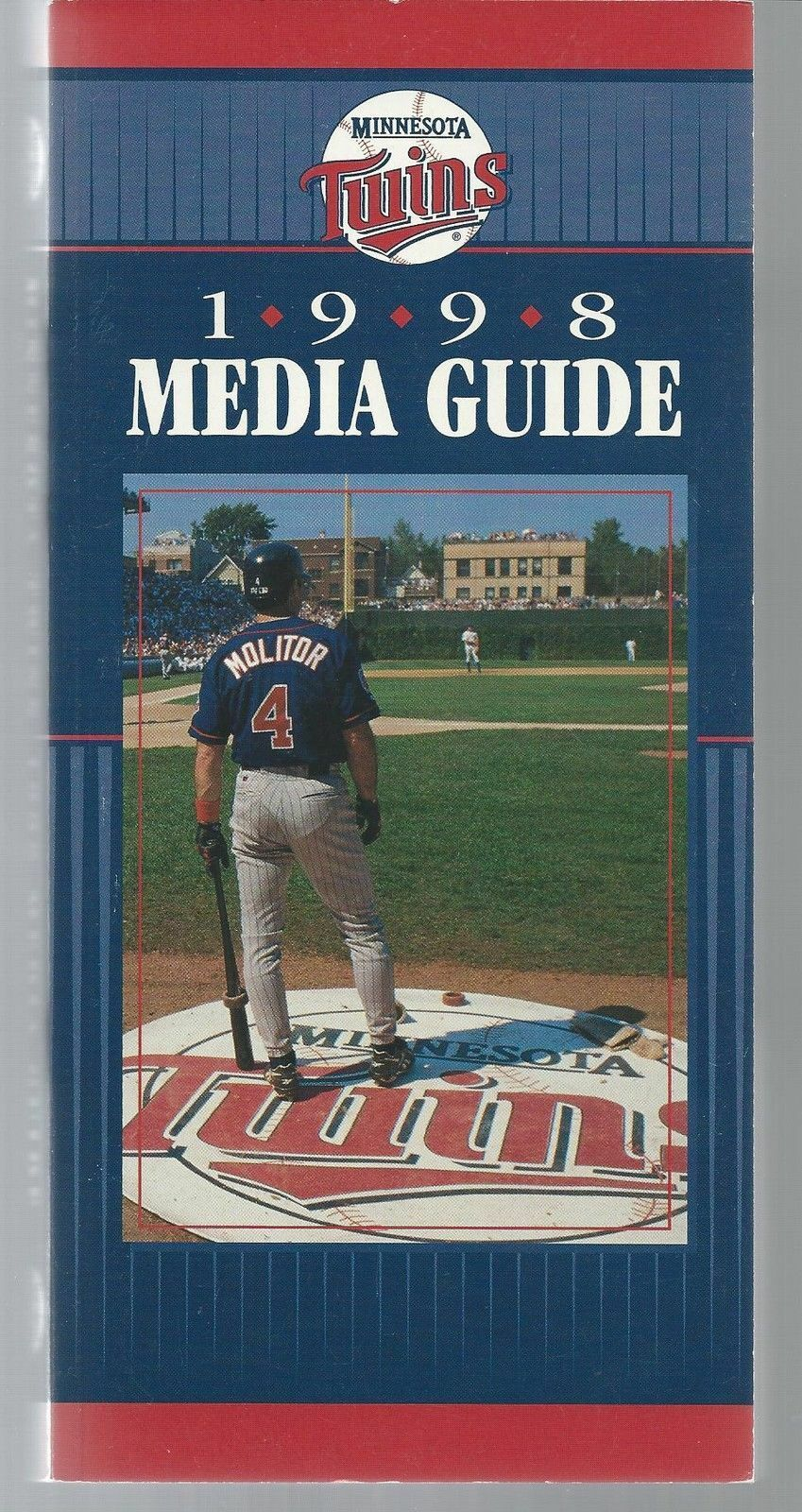1998 Minnesota Twins Baseball MLB Media Guide - Paul Molitor cover