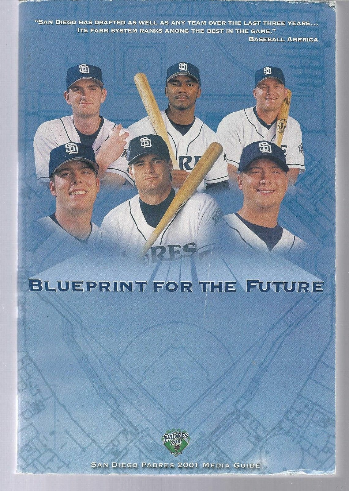 2001 San Diego Padres Baseball MLB Media Guide - Annual Player Information