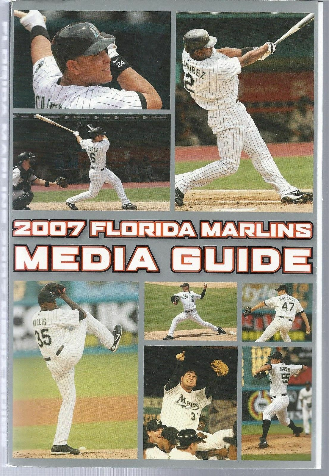2007 Florida Marlins Baseball MLB Media Guide - Annual Player Information