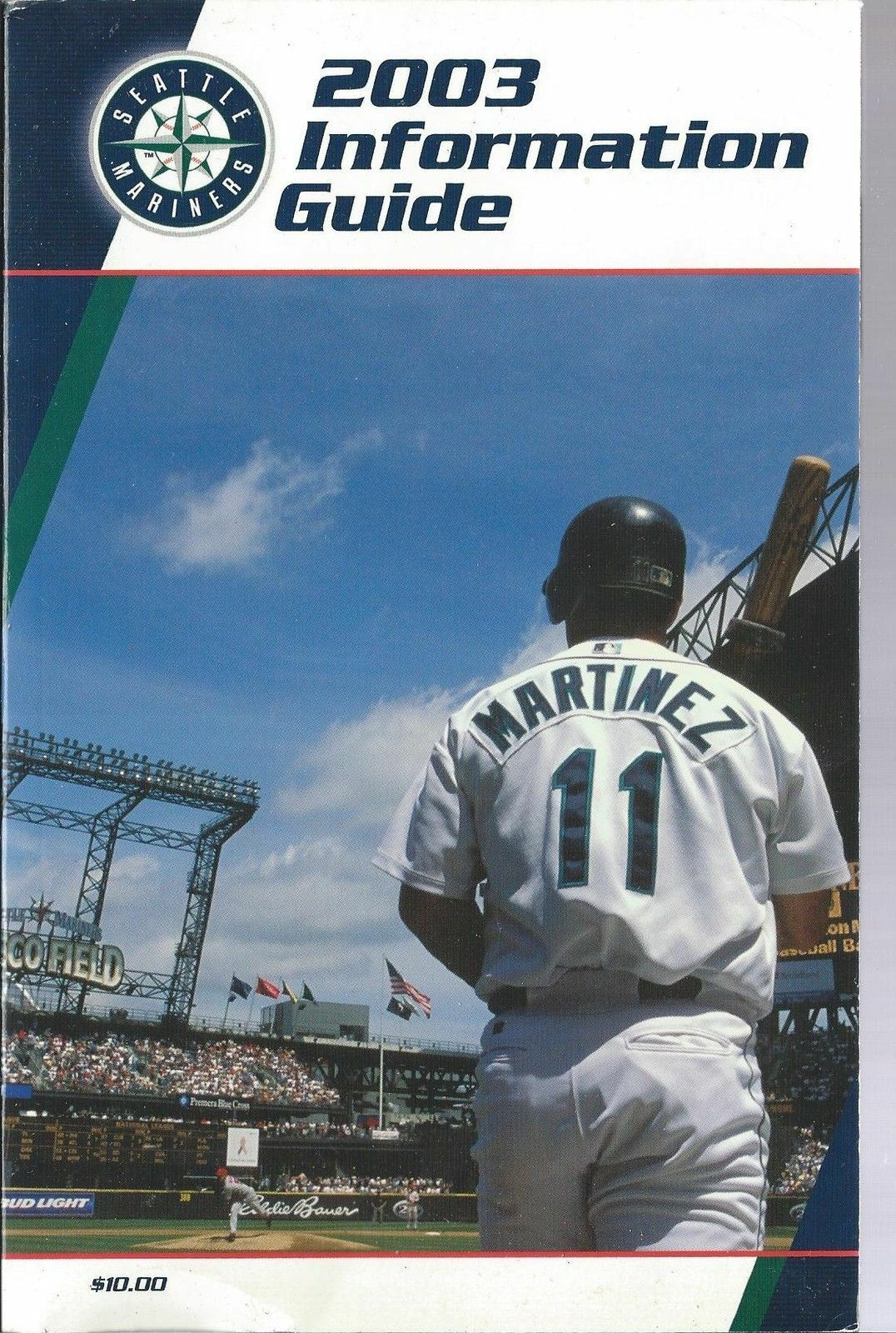 2003 Seattle Mariners Baseball MLB Media Guide - Annual Player Information