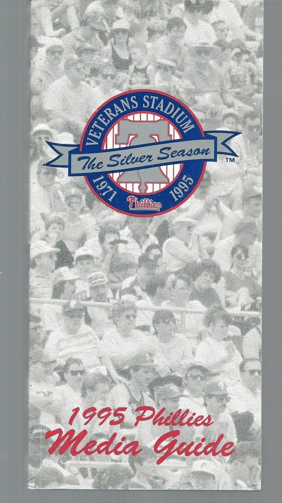 1995 Philadelphia Phillies Baseball MLB Media Guide - Annual Player Information