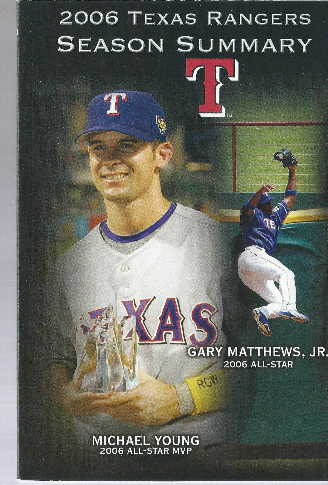 2006 Texas Rangers Baseball MLB Media Guide -  Post Season Summary Player Info
