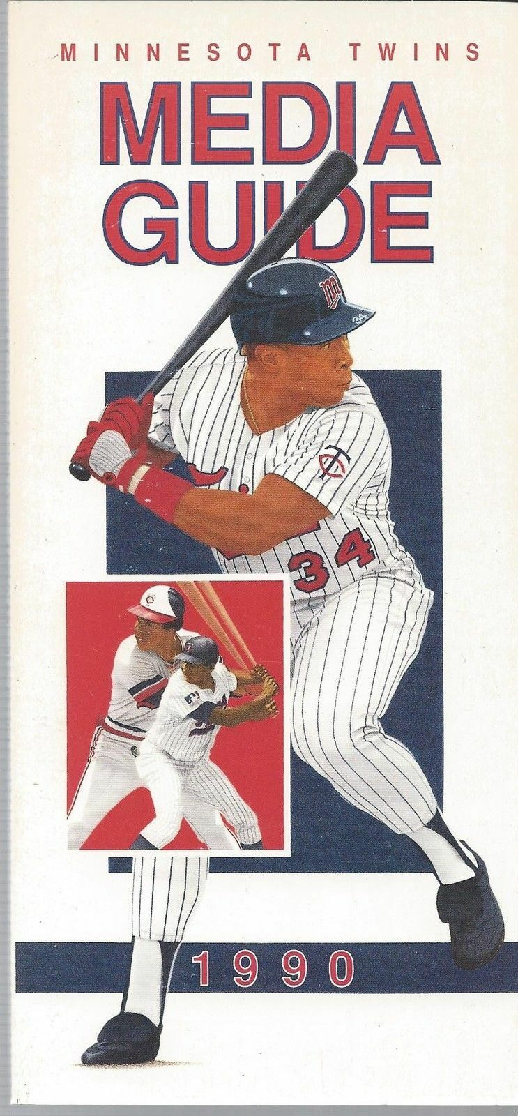 1990 Minnesota Twins Baseball MLB Media Guide - Annual Player Information