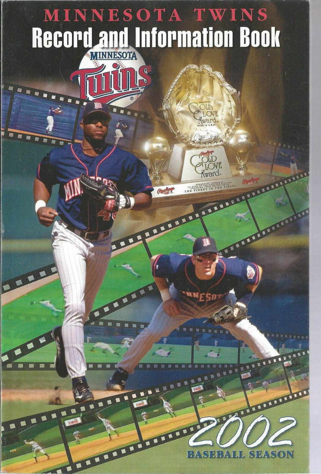 2002 Minnesota Twins Baseball MLB Media Guide - Annual Player Information