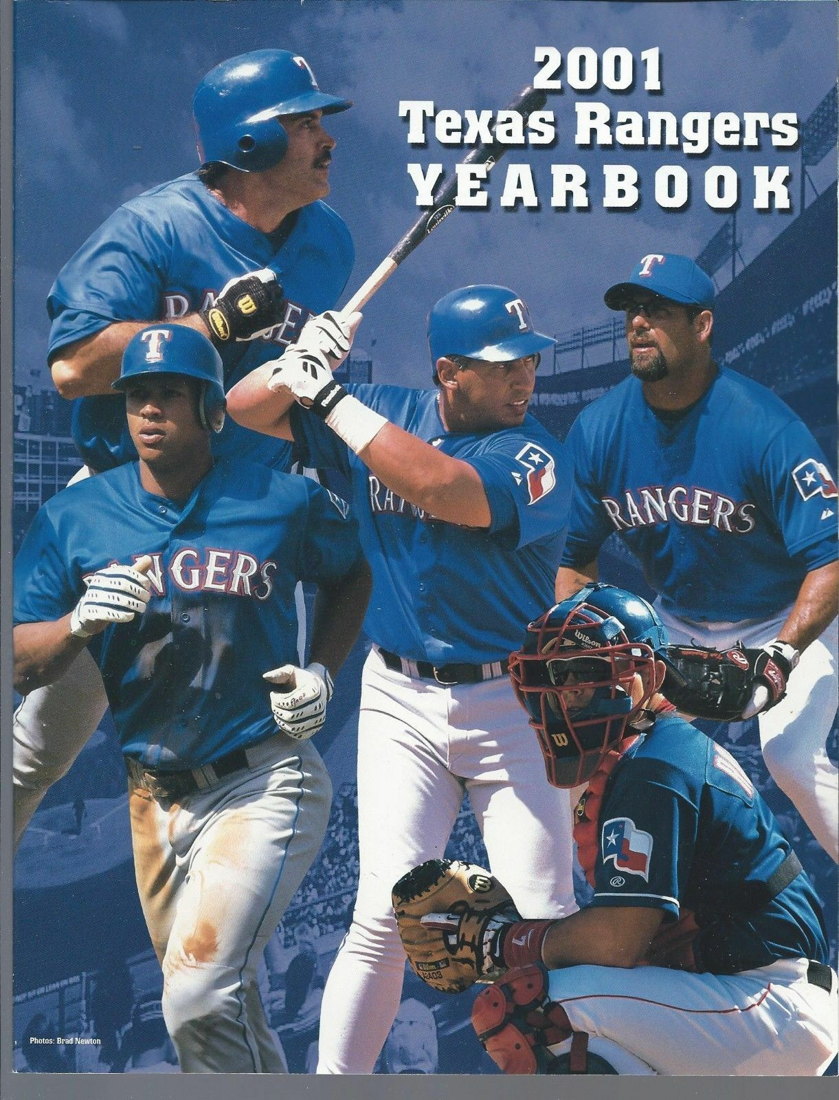 2001 Texas Rangers Official MLB Baseball Yearbook