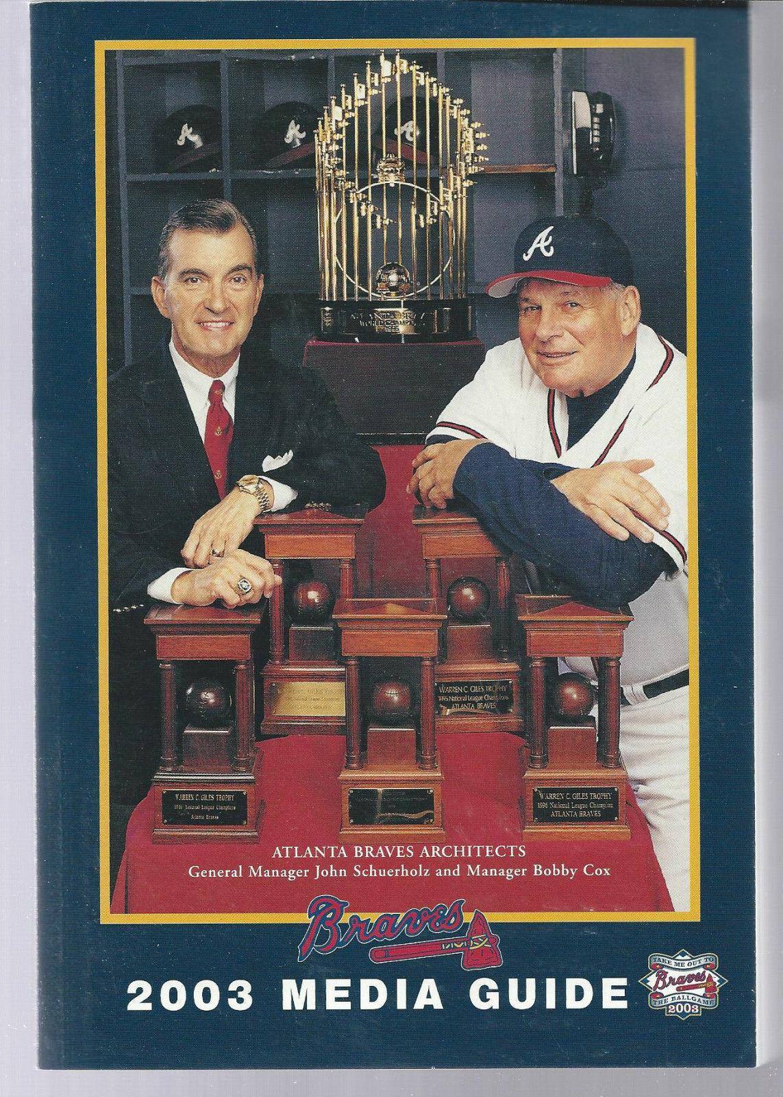 2003 Atlanta Braves Baseball MLB Media Guide - Annual Player Information