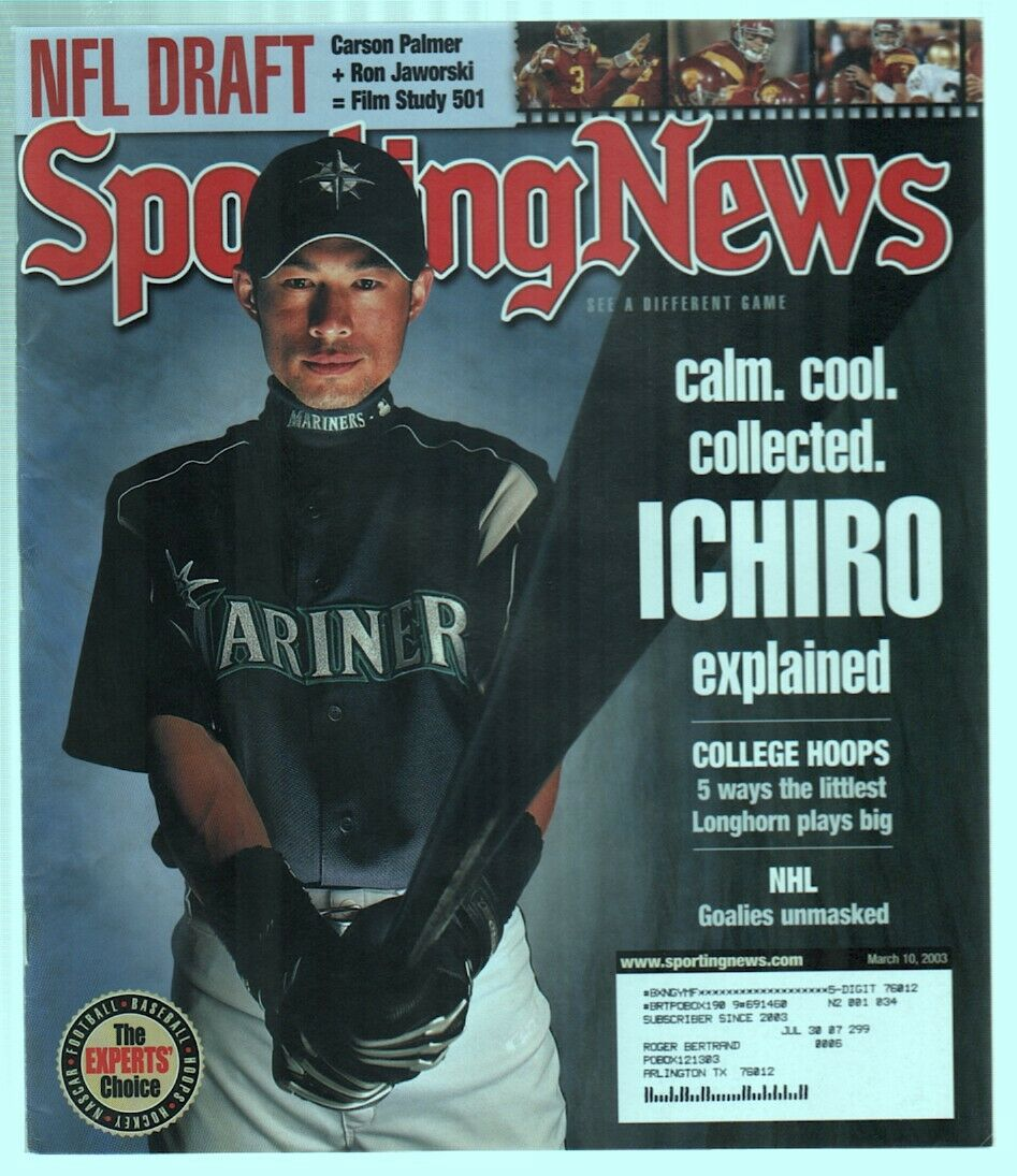 The Sporting News Magazine March 10 2003 Calm Cool Collected Ichiro Suzuki G