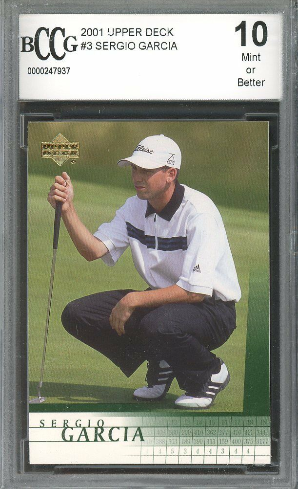 2001 upper deck #3 SERGIO GARCIA golf rookie card BGS BCCG 10