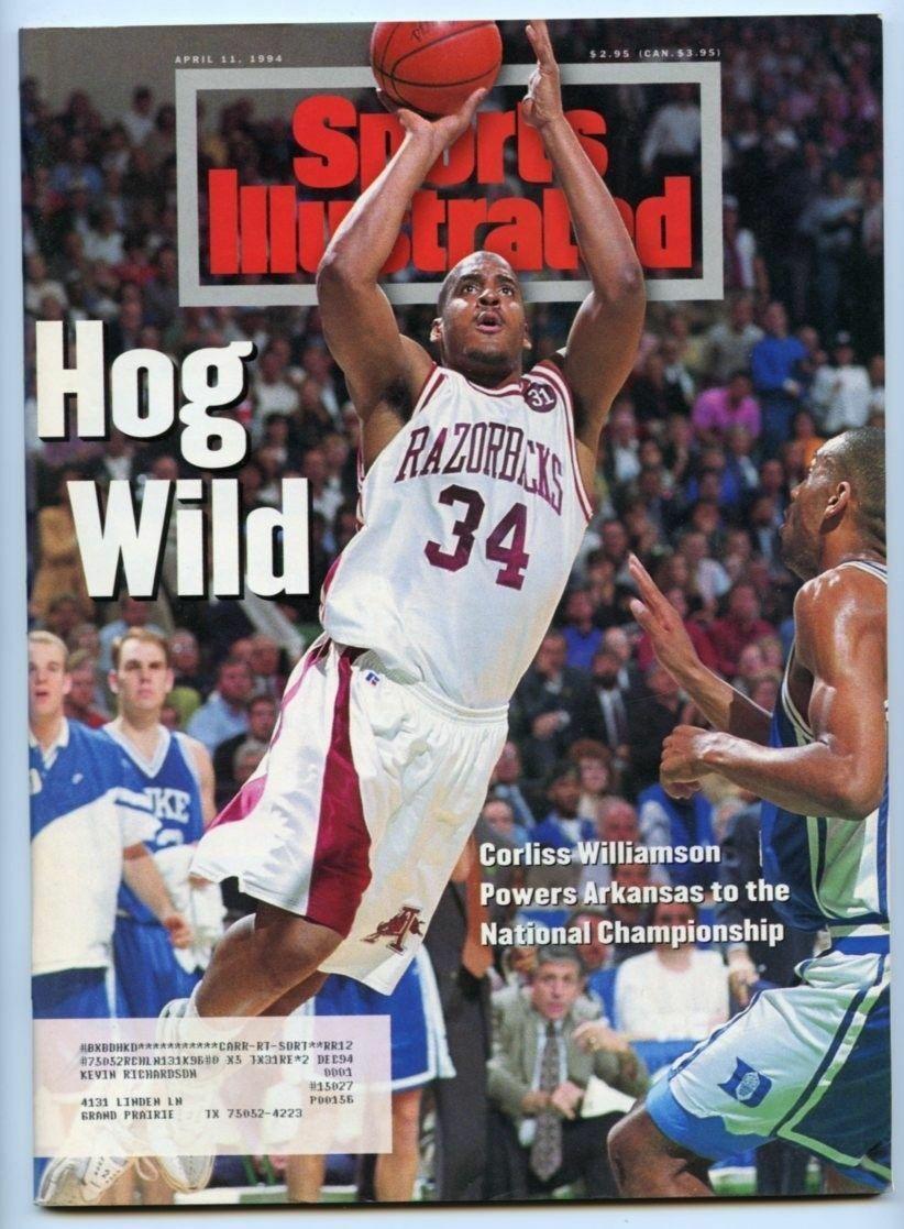 SI: Sports Illustrated April 11, 1994 Corliss Williamson, Basketball, Razorbacks
