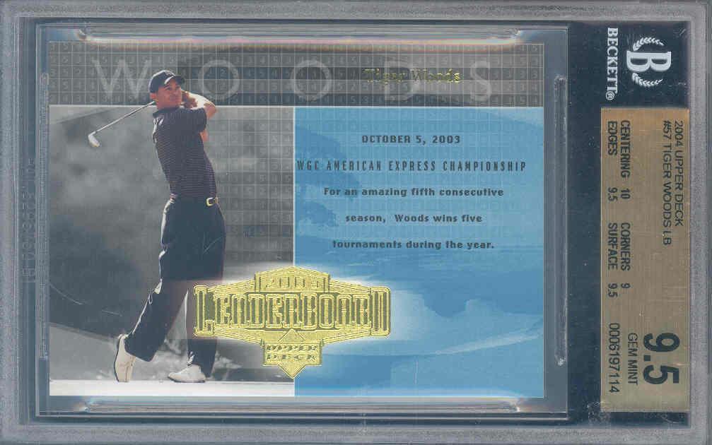 2004 upper deck #57 TIGER WOODS LB golf BGS 10 9.5