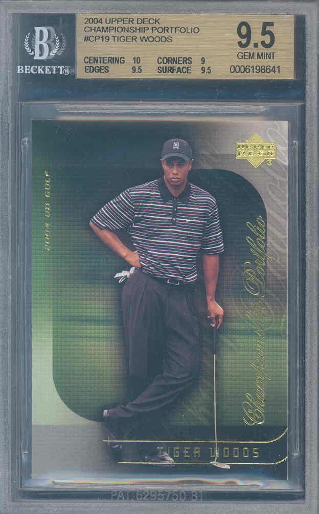 2004 upper deck championship portfolio #cp19 TIGER WOODS BGS 10 9.5