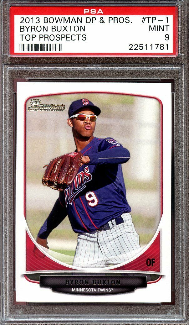 2013 bowman draft picks n prospects #tp1 BYRON BUXTON twins rookie card PSA 9