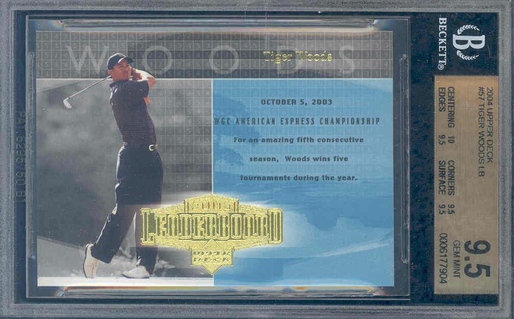 2004 upper deck #57 TIGER WOODS LB golf BGS 10 9.5 9.5 9.5