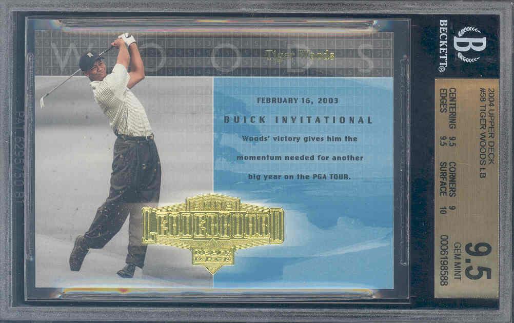 2004 upper deck #58 TIGER WOODS LB golf BGS 9.5 10