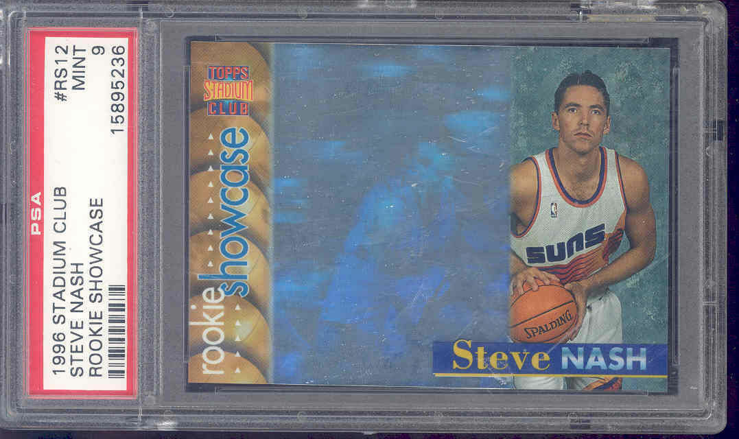 1996-97 stadium club rookie showcase #rs12 STEVE NASH rookie PSA 9