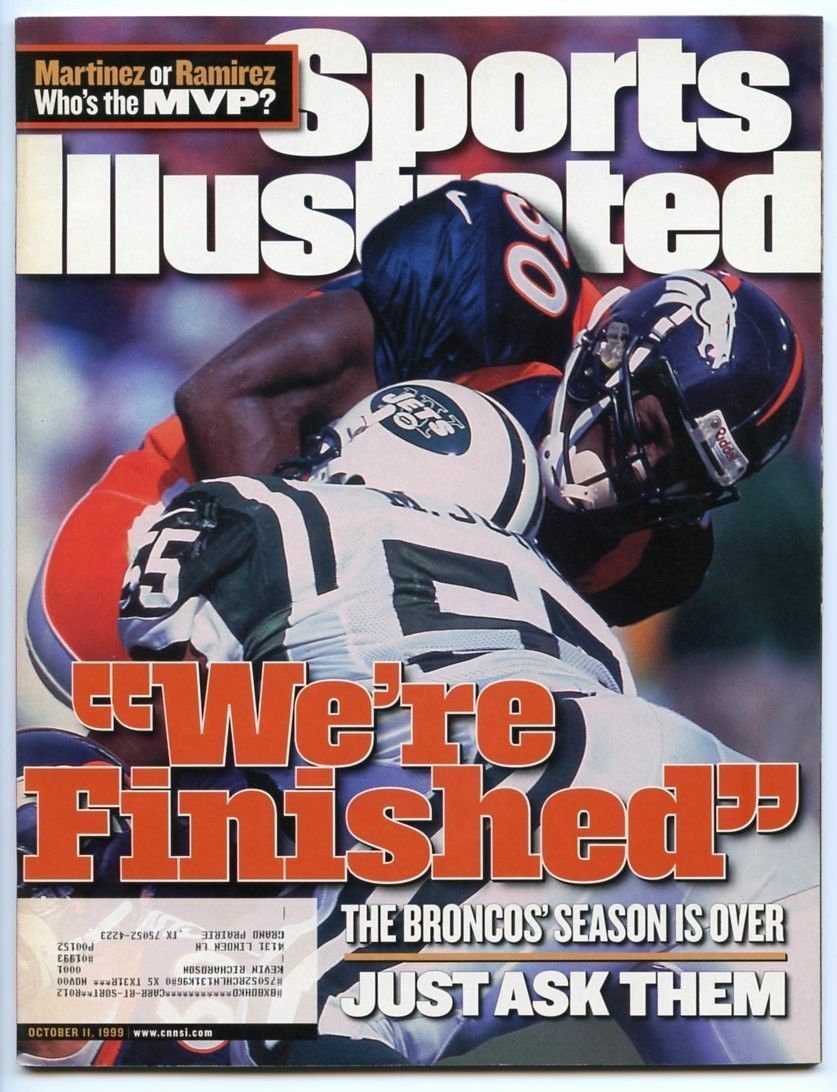 SI: Sports Illustrated October 11, 1999 We're Finished: Terrell Davis, Broncos