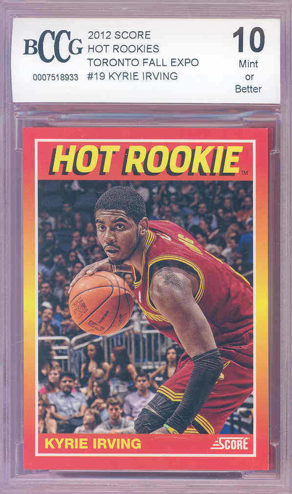 2012 score hot rookies #19 KYRIE IRVING (#d to 399) celtics rookie BGS BCCG 10