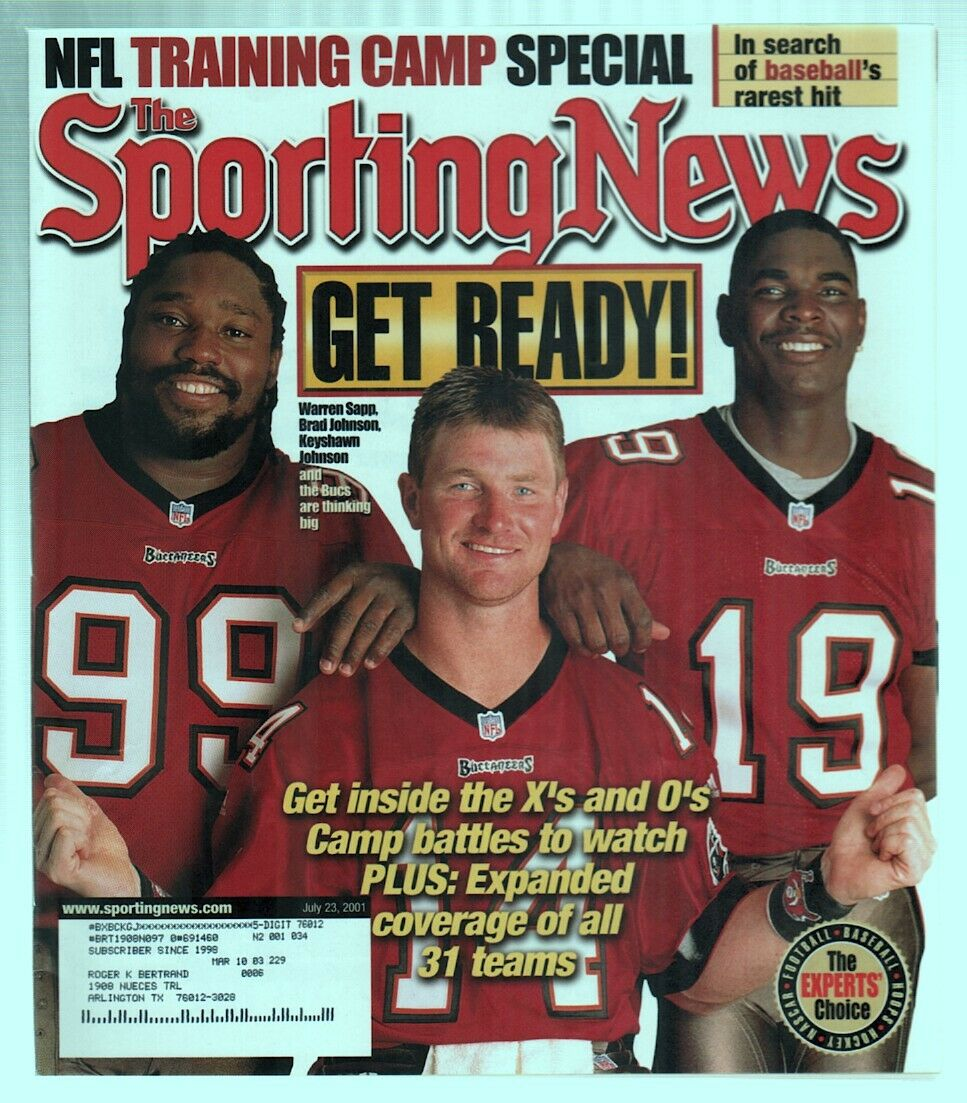 The Sporting News Magazine July 23, 2001 Get Ready! Tampa Bay Buccaneers Cover G