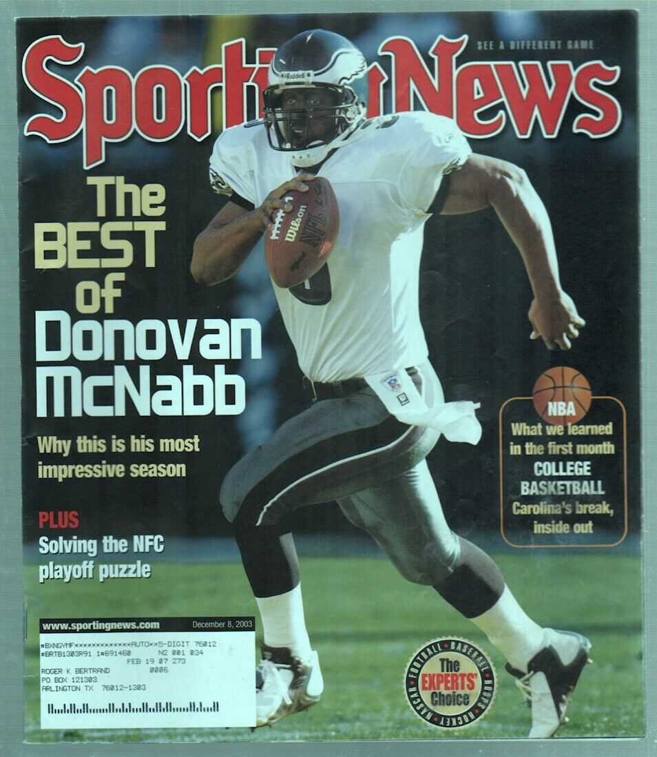 The Sporting News Magazine Dec 8, 2003 The Best of Donovan McNabb Eagles Cover G