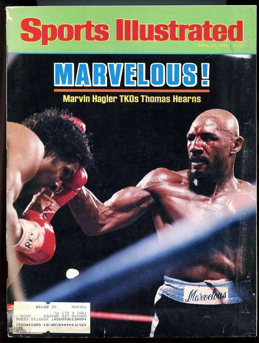 SI: Sports Illustrated April 22, 1985 Marvin Hagler TKOs Thomas Hearns G