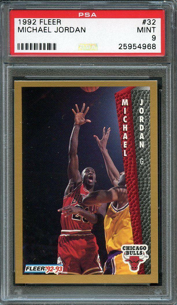 1992-93 fleer #32 MICHAEL JORDAN chicago bulls PSA 9