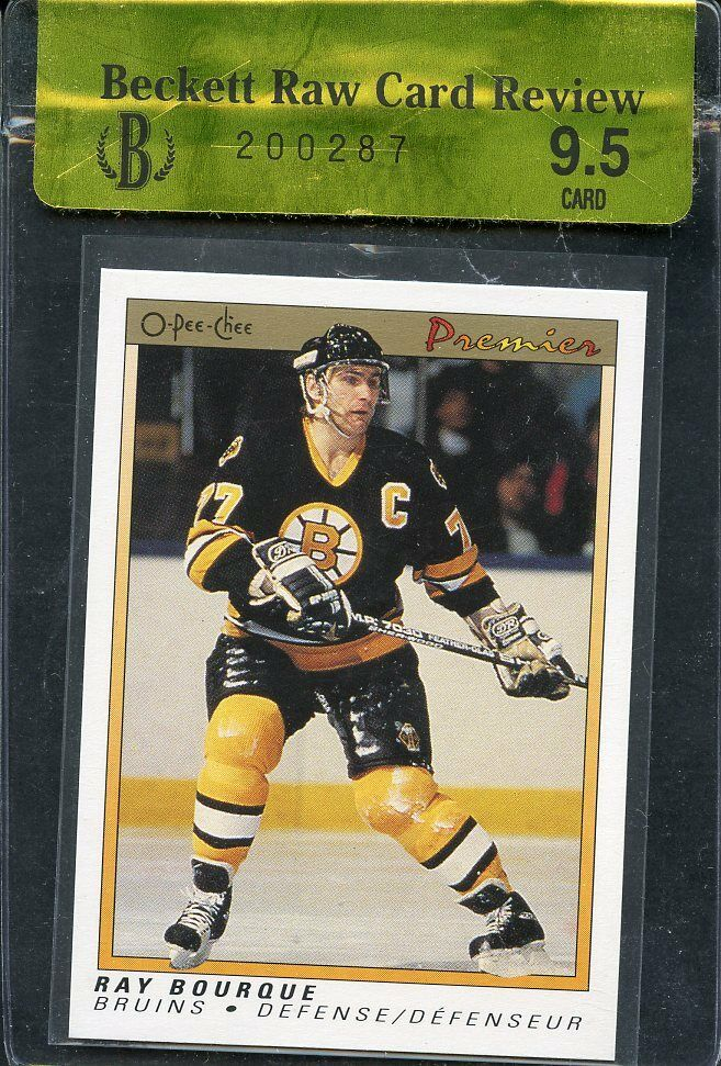 1990-91 opc premier #9 RAY BOURQUE boston bruins BGS 9.5 RCR