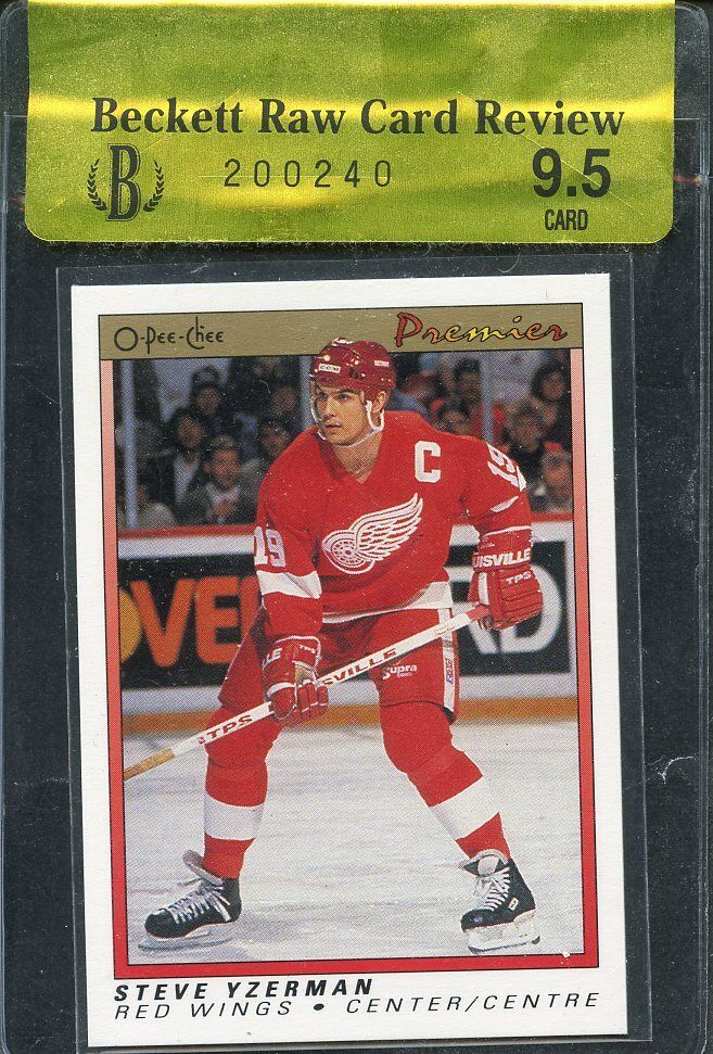 1990-91 opc premier #130 STEVE YZERMAN detroit red wings BGS 9.5 RCR